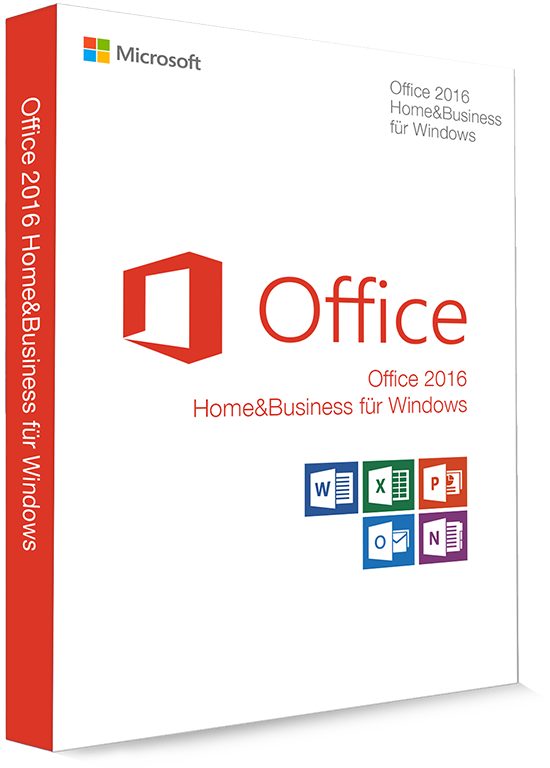 Microsoft Office 2016 Home & Business 32/64 Bit  - Produktschlüssel (Key)