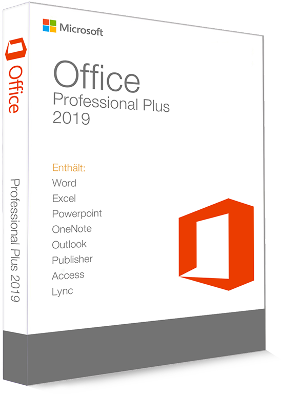 Microsoft Office 2019 Professional Plus 32/64 Bit - Produktschlüssel (Key)