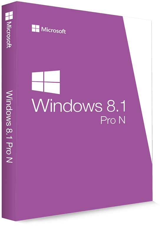 Microsoft Windows 8.1 Professional N 32/64 Bit - Produktschlüssel (Key)