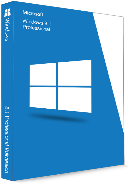 Microsoft Windows 8.1 Professional 32/64 Bit - Produktschlüssel (Key)