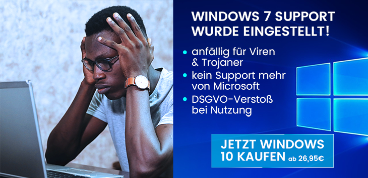 Windows 7 Support wurde eingestellt!